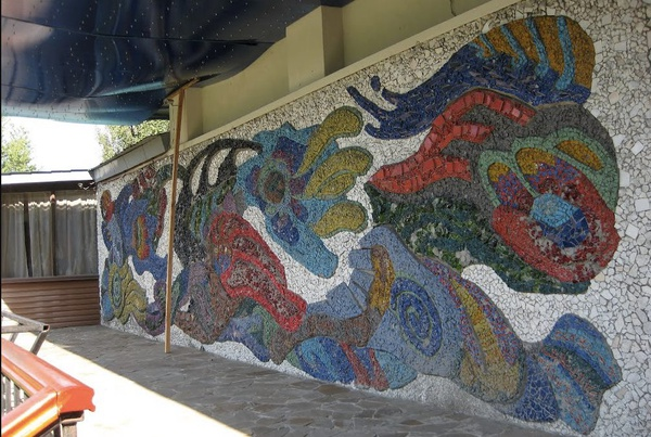 "Mosaic panel Wind, restaurant ""Vitryak"""